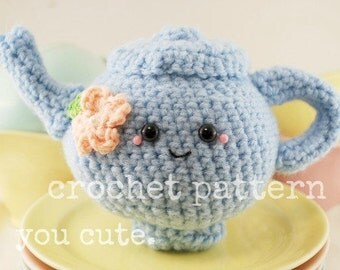 CROCHET PATTERN- Amigurumi Tea Pot