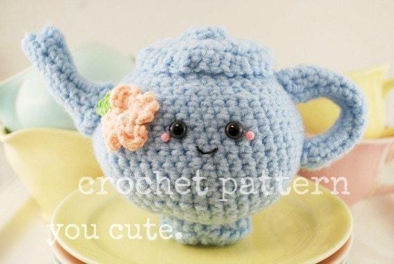 Amigurumi Crochet Teapot Pattern : CROCHET PATTERN Amigurumi Tea Pot