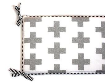 LARGE CROSSES - Crib Bumper or Crib Rail Covers (your choice) - Gender Neutral Nursery