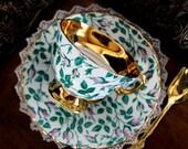 Rosina Tea Cup and Saucer, English Chintz Teacup, Bone China 13308
