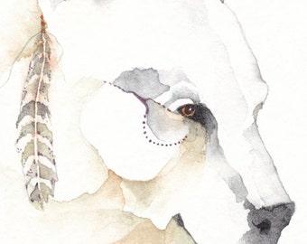 SPIRIT BEAR greeting card watercolor spirit TOTEM animal Native American