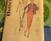 Butterick 8492 Vintage 1950s Dress and Jacket Pattern 32 Inch Bust