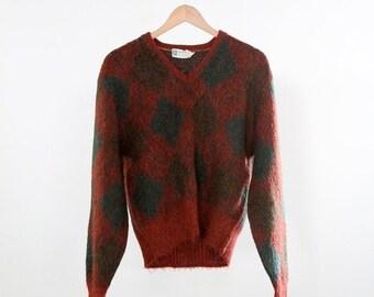 SALE 1960s argyle sweater
