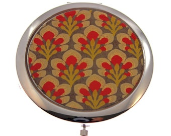 Mustard Flowers. Compact Mirror. Made with Handmade Indian paper