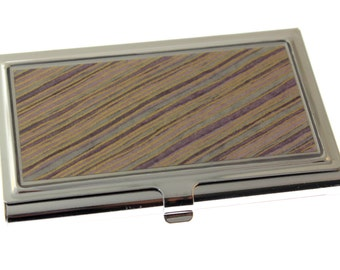 Purple Stripe Chiyogami.  Business card case. Gift card holder