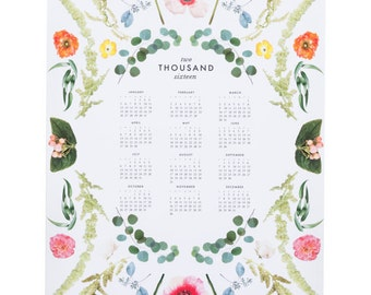 2016 Scandinavian floral calendar
