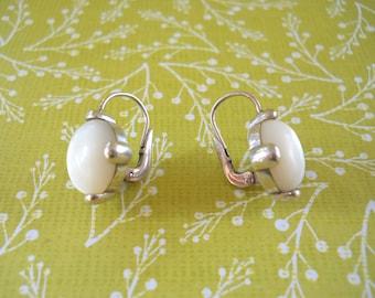 Mother-Of-Pearl & Sterling Silver Earrings — June Birthstone