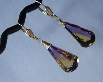 Ametrine Gold Fill Earrings