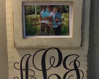 5x7 Custom picture frame family name baby established monogram wedding