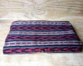 Bright Ikat Woven Fabric Kantha Style Yardage 2 Yards