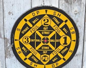 Vintage Round Large Dart Game Board Darts Carousel wheel spin carnival wall art darts reversible English