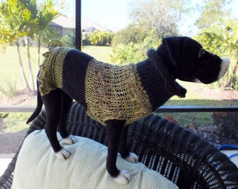 "Dog Sweater Raja Small 13"" inches long FREE FC SHIPPING"