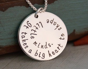 Favorite Phrase or Bible Verse - Hand Stamped Personalized Necklace - Sterling Silver Hand Stamped necklace