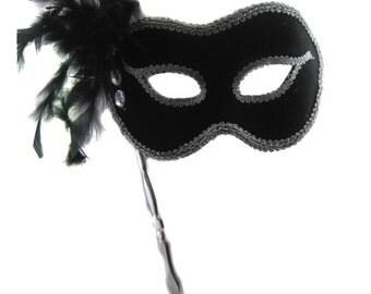 BLACK Masquerade MASK Mardi Gras- Masquerade Style- Elegant