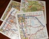 Denver Map Coasters...For Drinks and Candles...Full Cork Bottoms...Great Gift