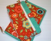 Deluxe Spill Proof Needlecase in Block Party by Sassafras for tips, circs and short dpns