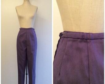 1950s Purple Denim Cigarette Pants 50s