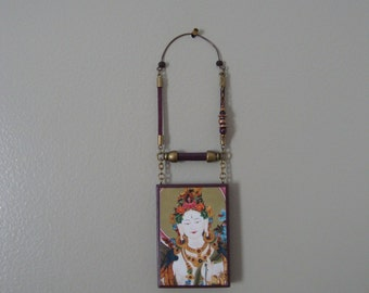 White Tara -- Wall Amulet