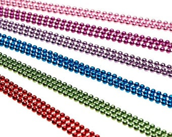 """25 COLORED 24"""" Ball Chain Necklaces - Multiple Color Choices of High Quality Colors"""