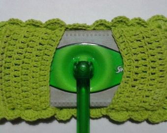 Reuseable Lime Green Cotton Kitchen Swifter Cleaner Mop Cover
