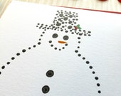 Snowman Card Set - 12 Holiday Cards - Hand Painted - Made To Order - matchbook Style Cards - Eco-Friendly Christmas Cards