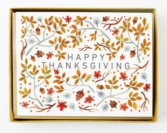 Thanksgiving Foliage 8pcs