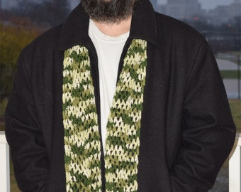 Mens Scarf Made With Vintage Wool