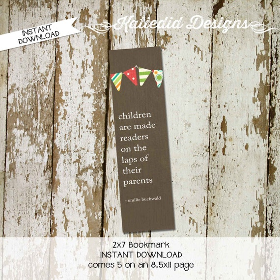 book theme party favor book theme baby shower bookmark instant download storybook surprise gender reveal thank you 1215 Katiedid Designs