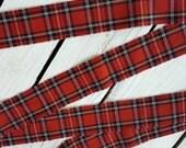 Tartan ribbon, fabric ribbon, plaid ribbon, rustic gift wrap
