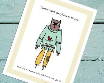 Comfort was everything to Marlys. Let's get honest this valentines day, that, and send cards to all people.