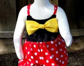 Minnie - Girl - Mouse - Bubble - Romper - Yellow - Bow - Birthday - Summer - Fun - Baby - Clothes - Dis - Inspired - Toddler - Photo Prop
