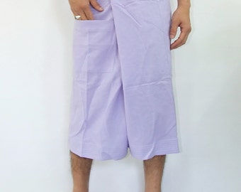 100% cotton thai fishermanpants handmade by my mum short 3/4 legs style 012S