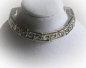 Italian Sterling Silver ClassicBorder Bracelet