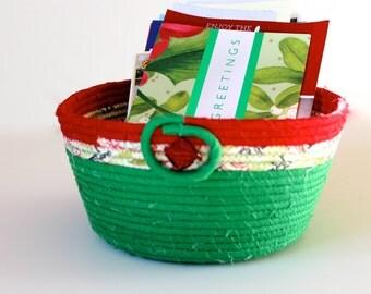 Coiled Rope Basket - Christmas Card Holder Gift Basket