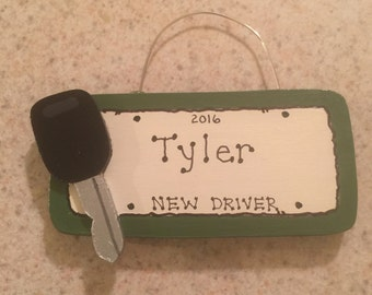 Car Key & License Plate