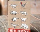 Dino Christmas Card