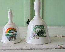 Vintage GREAT SMOKEY MOUNTAINS Canada Rainbow Bell Set...retro. 1980s. bear. national park. hippie. rainbow. mountains. hiking. set of bells