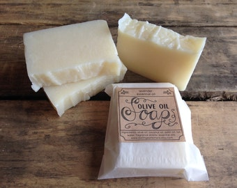 Handmade olive oil soap - with lavender essential oil, vegan