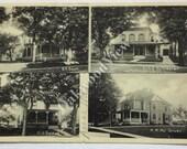 1905 Black River NY Residences Postcard, Homes of Scott Sylvester Sweet Gruer, Black & White Antique Vintage New York State Ephemera