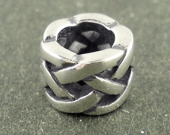 CLOSEOUT  Celtic Bead Charm Sterling Silver 925 Fits most brands of European style bracelets