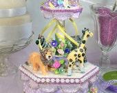 Lavender Carousel Cake To...