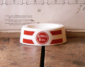 Vintage Schloss Brau Restaurant Ashtray - Retro Barware - Great Guy Gift!