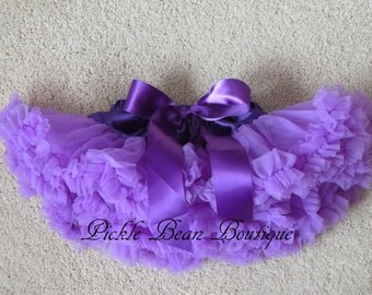 Girls Purple Pettiskirt - 0-9 mo Ready To Ship - Baby Girl 1st Birthday Outfit - Girls First Birthday Outfits - Baby Petti Skirt Tutu Kids