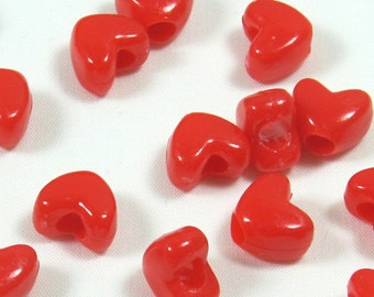DISCONTINUED Red Heart Pony Beads, 10x12mm, 100 beads