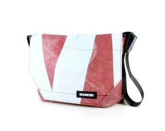 Large Messenger Bag made from Recycled Truck Tarp, Man Bag, Satchel Style Bag, MacBook Bag (55.08)