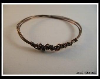 NEW/ Copper Bangle Bracelet / Copper Wire Bracelet/ Small Bangle  Bracelet/ Copper / bracelet- B-001
