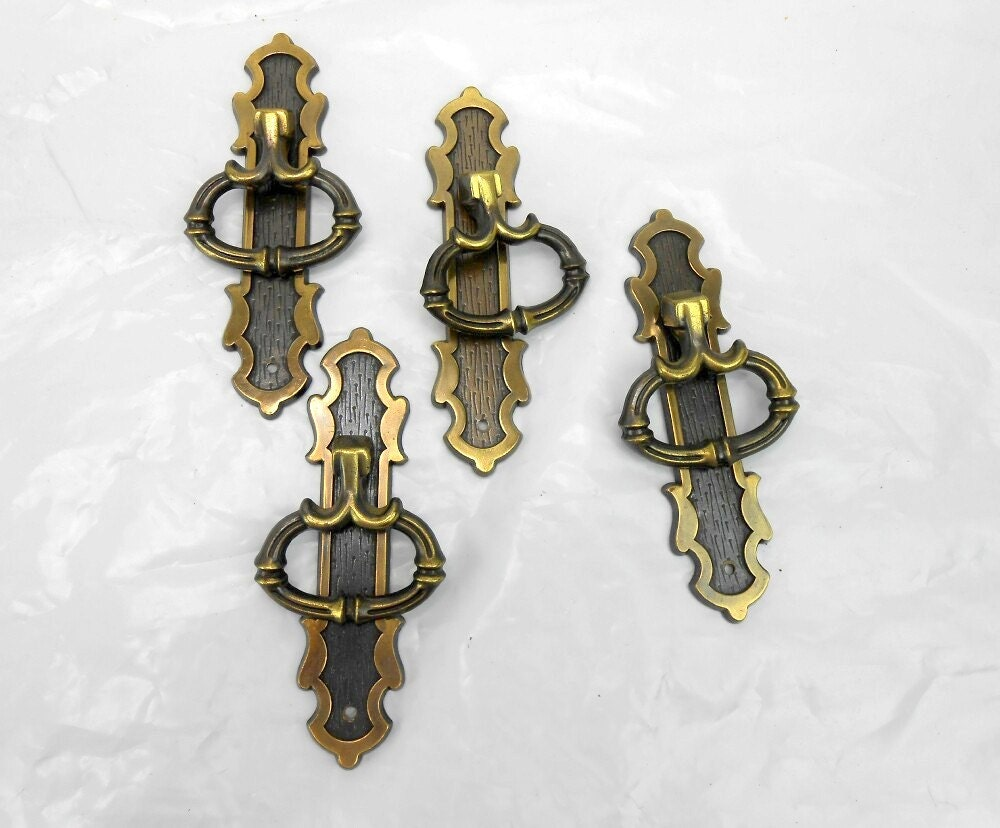 vintage cabinet pulls 4 antique cabinet handles brass french