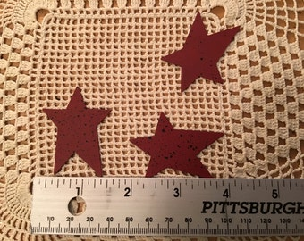 Primitive Red Speckled Star Cutout