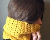 The Frost Chunky Crochet Scarf Warmer Cowl Knit Infinity Loop Neck Hood