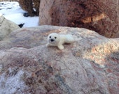 Seal miniature, felted seal, baby seal, needle felted seal